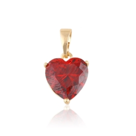 Przywieszka kryształowe serce - red Xuping PRZ2182