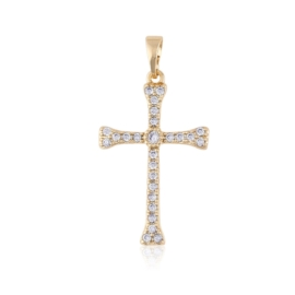 Przywieszka krzyżyk z kryształkami Xuping PRZ2187