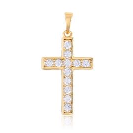 Przywieszka krzyżyk z kryształkami Xuping PRZ2188