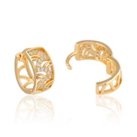 Kolczyki ażurowe z kryształkami Xuping EAP11301