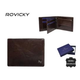 Portfel męski skórzany - RV-756699 Brown P935