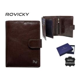 Portfel męski skórzany - RV-7680277 Brown P936