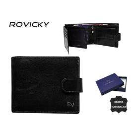 Portfel męski skórzany - RV-70616 Black P937