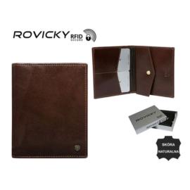 Portfel męski skórzany - N03-RVT Brown P946