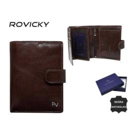 Portfel męski skórzany - RV-7680278-9 Brown P948