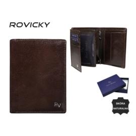 Portfel męski skórzany - RV-7680278 Brown P956