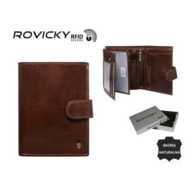 Portfel męski skórzany - N575L-RVT Brown P958