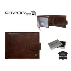 Portfel męski skórzany - N61L-RVT Brown P960