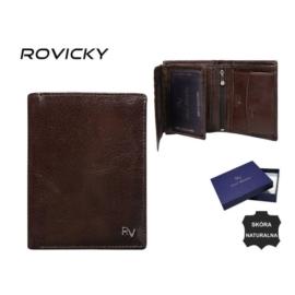 Portfel męski skórzany - RV-7680272-9 Brown P964