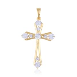 Przywieszka krzyżyk z kryształkami Xuping PRZ2209
