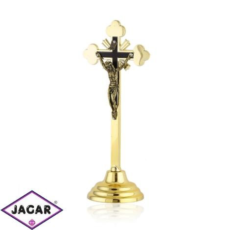 Krzyż metalowy złoty - wys. 19cm - KR31