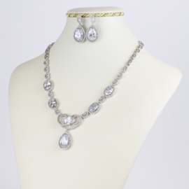 Komplet biżuterii ślubnej - kryształy Xuping SKO72