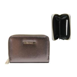 Portfel damski brązowy metalic - P1000