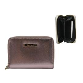 Portfel damski różowy metalic - P999