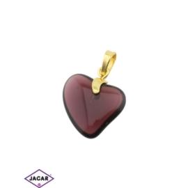Przywieszka - serce - 3cm - ZAW15
