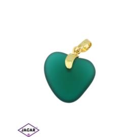 Przywieszka - serce - 3cm - ZAW16