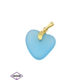 Przywieszka - serce - 3,4cm - ZAW17
