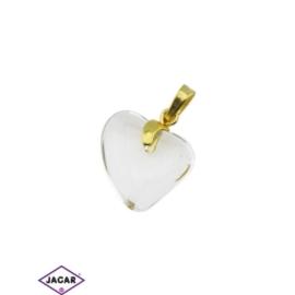 Przywieszka - serce - 3cm - ZAW19