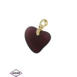 Przywieszka - serce - 3,2cm - ZAW21