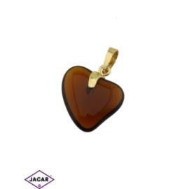 Przywieszka - serce - 3,2cm - ZAW24