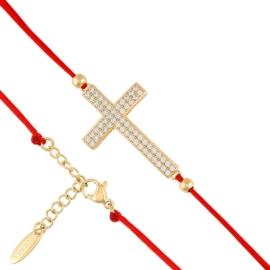 Bransoletka - krzyż na sznurku - Xuping BP4931