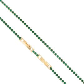 Bransoletka - zielone kryształki - Xuping BP4934