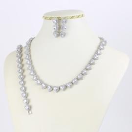 Komplet biżuterii love - serce - Xuping - SKO75