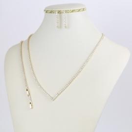 Komplet biżuterii - kryształki - Xuping - SKO77