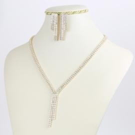 Komplet biżuterii - kryształki - Xuping - SKO78