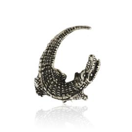 Broszka - metalowy aligator - 4cm - BR431