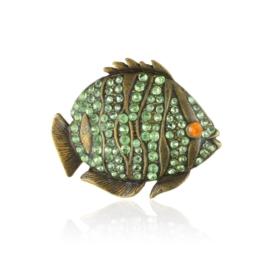 Broszka - kryształowa rybka - 4,5cm - BR433