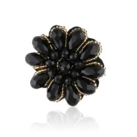 Broszka - czarny kwiat - 4,5 - BR439