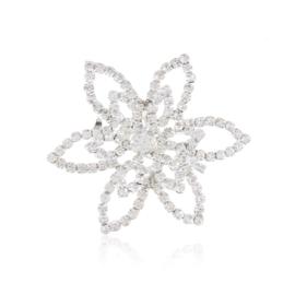 Broszka - kryształowy kwiat - 4,2cm - BR445
