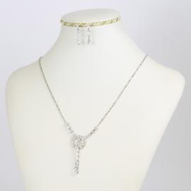 Komplet - naszyjnik kolczyki - kryształki - KOM143