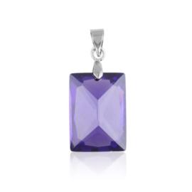 Przywieszka - fioletowy kryształ - 3cm ZAW26