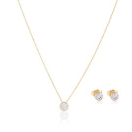 Komplet biżuterii okrągły kryształek Xuping PK489