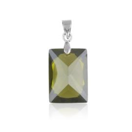 Przywieszka - zielony kryształ - 3cm ZAW28