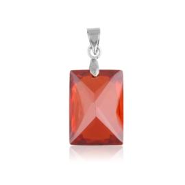 Przywieszka - czerwony kryształ - 3cm ZAW29