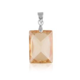 Przywieszka - pomarańczowy kryształ - 3cm ZAW32