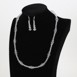 Komplet biżuterii - naszyjnik i kolczyki - KOM159