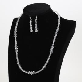 Komplet biżuterii - naszyjnik i kolczyki - KOM160