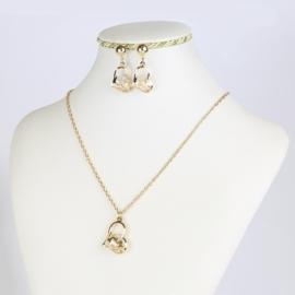 Komplet biżuterii - serduszka - LOVE - KOM161
