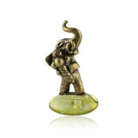 Fig. metalowa - słoń na kamyku Lody - FR265