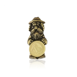 Figurka metalowa - żyd z monetą 10szt FR281