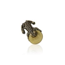 Figurka metalowa - żaba z monetą 10szt FR282