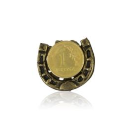 Figurka metalowa - podkowa z monetą 10szt FR283