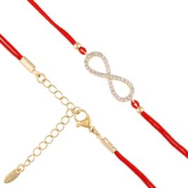 Bransoletka - czerwony sznurek - Xuping BP4963