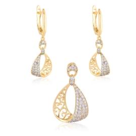 Komplet biżuterii z kryształkami Xuping PK493