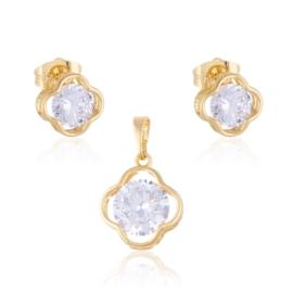 Komplet biżuterii koniczynka Xuping PK495