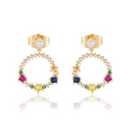 Kolczyki kolorowe kryształki - Xuping - EAP11495